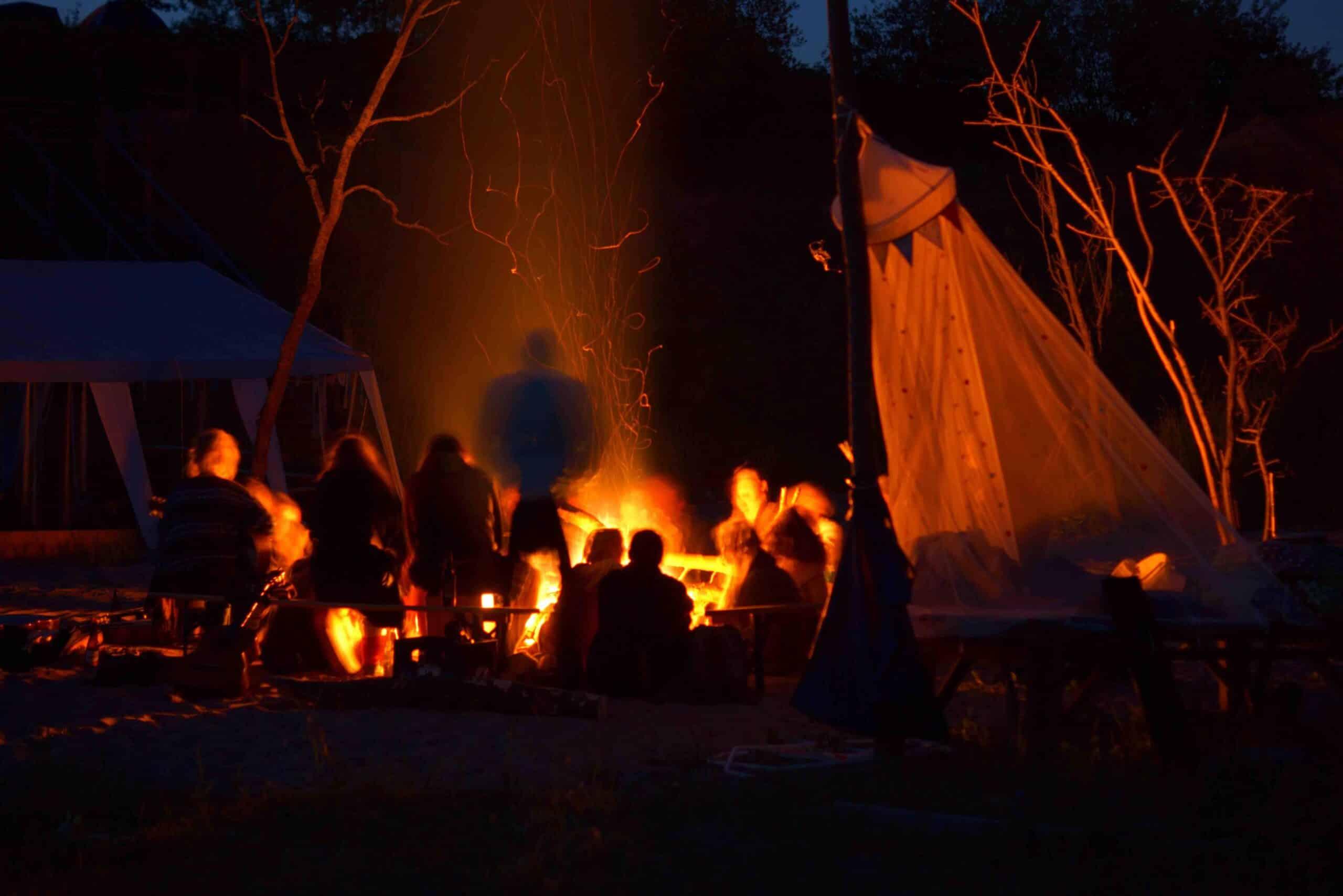 Humus Festival Feuer